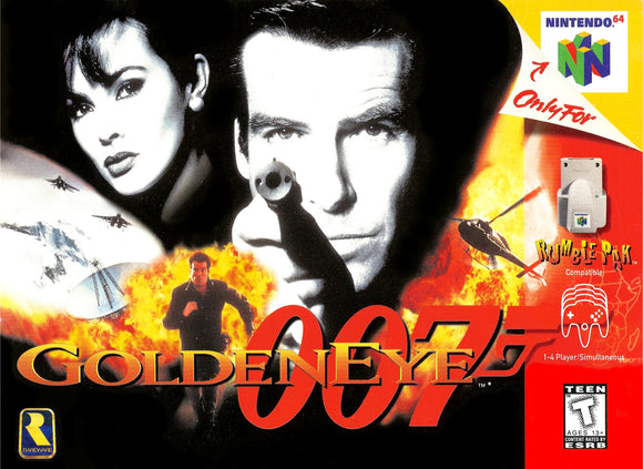 Vintage Goldeneye Game Poster//N64 Game Poster//Video Game Poster//Retro Game Reprint