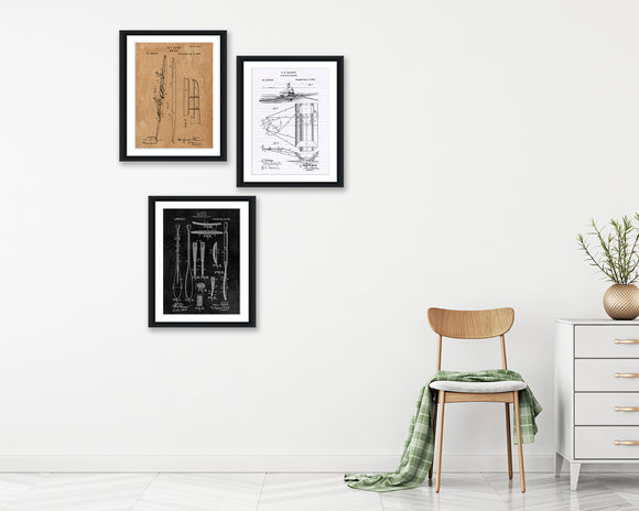 Rowing Patent Print Set - Patent Print - Patent Art - Patent Print - Patent Poster - Office Art - Office Supplies