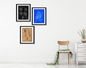Tattoo Patent Print Set - Tattoo Parlor Patent Print - Patent Art - Patent Print - Patent Poster - Office Art - Office Supplies