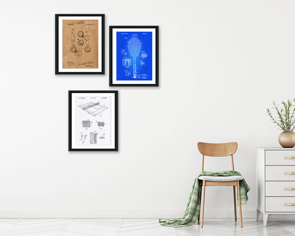 Tennis Patent Print Set - Patent Print - Patent Art - Patent Print - Patent Poster - Office Art - Office Supplies
