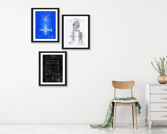 Tesla Inventions Patent Print Set - Patent Print - Patent Art - Patent Print - Patent Poster - Office Art - Office Supplies
