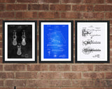 Shaving Patent Print Set - Barbershop Patent Print - Patent Art - Patent Print - Patent Poster - Office Art - Office Supplies