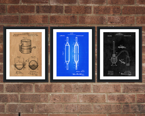 Baking Patent Print Set - Kitchen Patent Art - Patent Print - Patent Poster - Office Art - Office Supplies