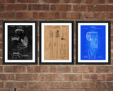 Toliet Patent Print Set - Bathroom Patent Print - Patent Art - Patent Print - Patent Poster - Office Art - Office Supplies
