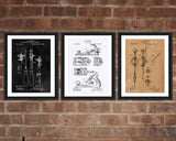 Woodworking Patent Print Set - Patent Print - Patent Art - Patent Print - Patent Poster - Office Art - Office Supplies