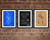 Basketball Patent Print Set - Patent Art - Patent Print - Patent Poster - Office Art - Office Supplies