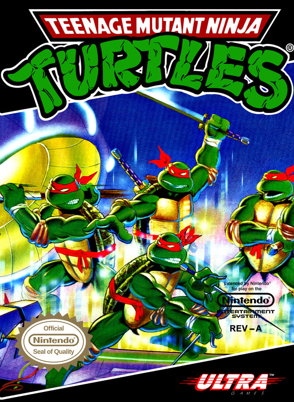 Retro Teenage Mutant Ninja Turtles Game Poster//NES Game Poster//Video Game Poster//Vintage Game Reprint