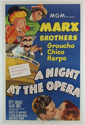 A Night at the Opera Poster//A Night at the Opera Movie Poster//Movie Poster//Poster Reprint