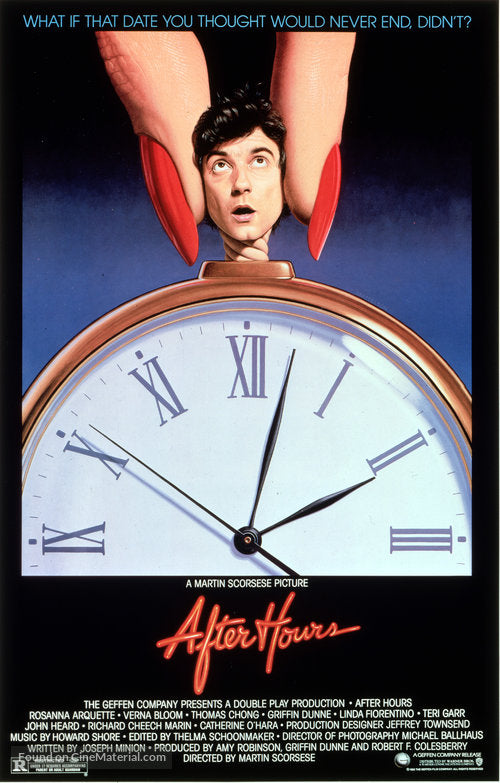 After Hours Poster//After Hours Movie Poster//Movie Poster//Poster Reprint