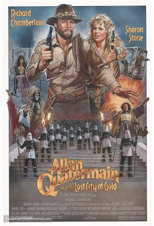 Allan Quatermain and the Lost City of Gold Poster//Allan Quatermain and the Lost City of Gold Movie Poster//Movie Poster//Poster Reprint