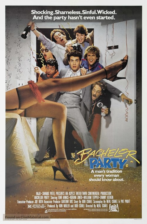 Bachelor Party Poster//Bachelor Party Movie Poster//Movie Poster//Poster Reprint