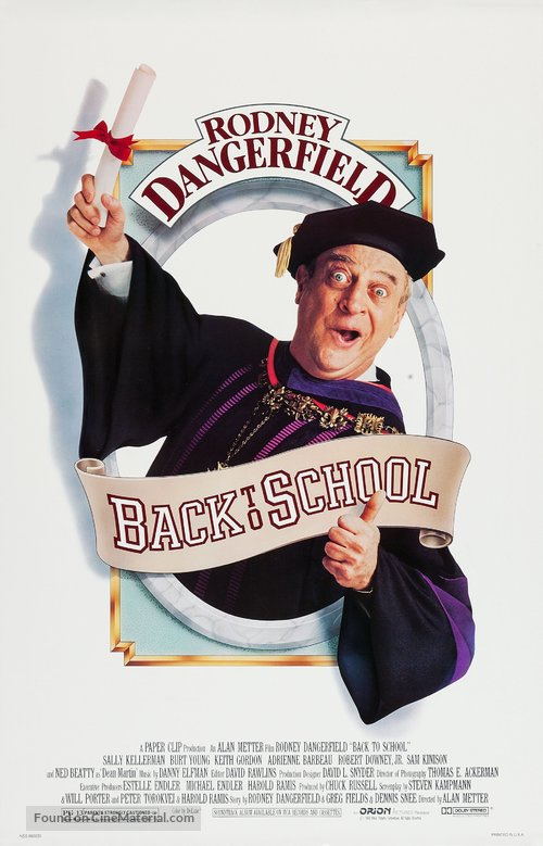 Back to School Poster/Back to School Movie Poster//Movie Poster//Poster Reprint