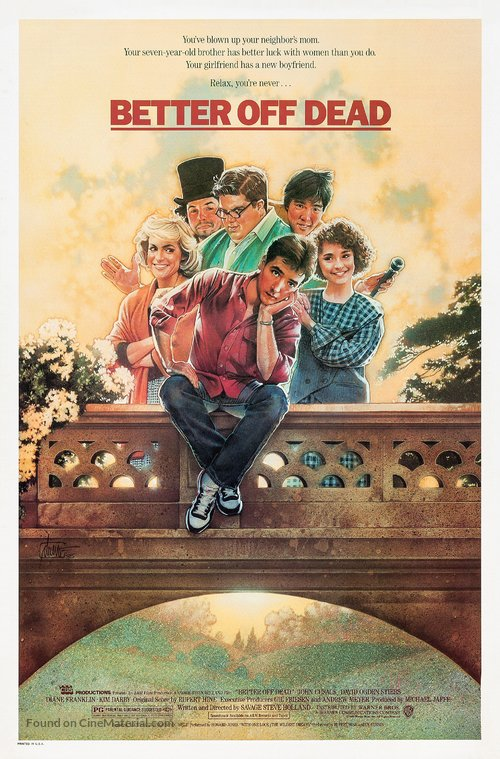 Better Off Dead... Poster//Better Off Dead...  Movie Poster//Movie Poster//Poster Reprint
