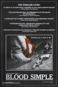 Blood Simple Poster//Blood Simple Movie Poster//Movie Poster//Poster Reprint