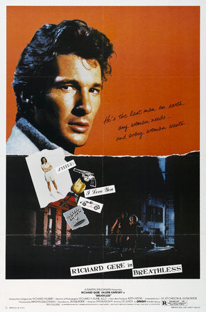 Breathless Poster//Breathless Movie Poster//Movie Poster//Poster Reprint