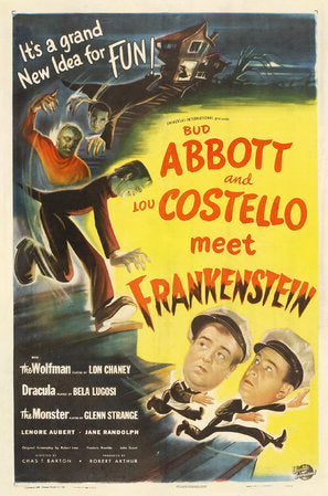 Bud Abbott Lou Costello Meet Frankenstein Poster//Bud Abbott Lou Costello Meet Frankenstein Movie Poster//Movie Poster//Poster Reprint