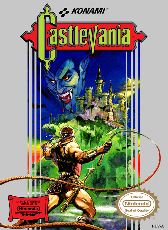 Vintage Castlevania Game Poster//NES Game Poster//Video Game Poster//Retro Game Reprint