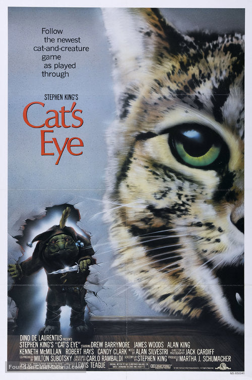 Cat's Eye Poster//Cat's Eye Movie Poster//Movie Poster//Poster Reprint