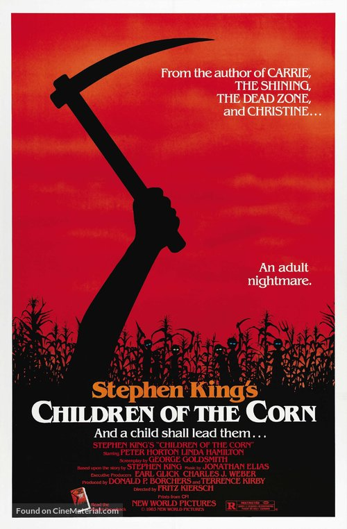 Children of the Corn Poster//Children of the Corn Movie Poster//Movie Poster//Poster Reprint
