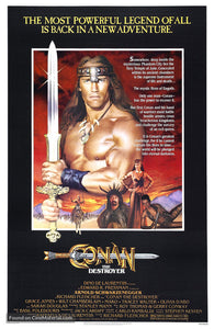 Conan The Destroyer Poster//Conan The Destroyer Movie Poster//Movie Poster//Poster Reprint
