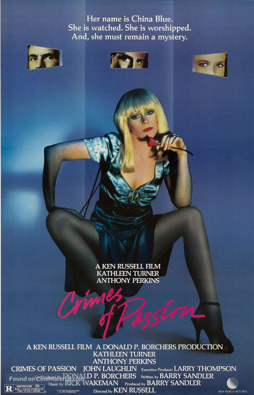Crimes of Passion Poster//Crimes of Passion Movie Poster//Movie Poster//Poster Reprint