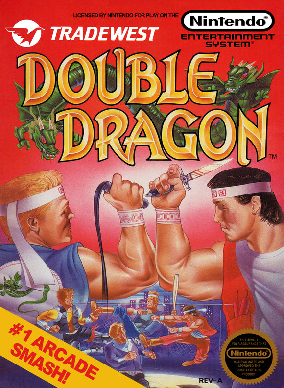 Vintage Double Dragon Game Poster//NES Game Poster//Video Game Poster//Retro Game Reprint