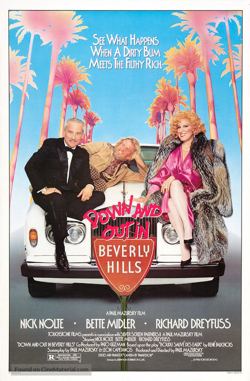 Down and Out in Beverly Hills Poster//Down and Out in Beverly Hills Movie Poster//Movie Poster//Poster Reprint