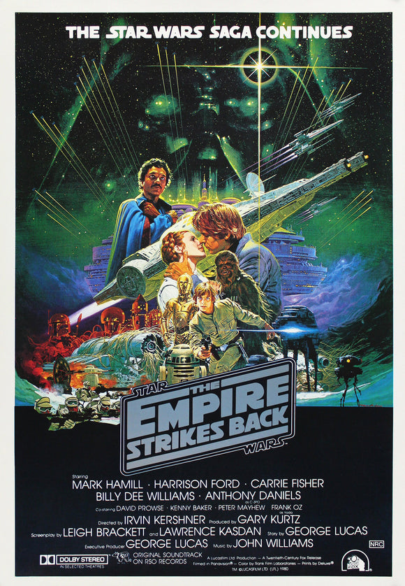 Star Wars Poster//Empire Strikes Back Australian Release Original Reprint//Movie Poster//Poster Reprint