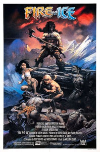 Fire and Ice Poster//Fire and Ice Movie Poster//Movie Poster//Poster Reprint