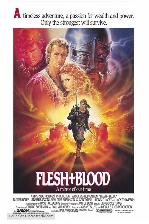 Flesh And Blood Poster//Flesh And Blood Movie Poster//Movie Poster//Poster Reprint