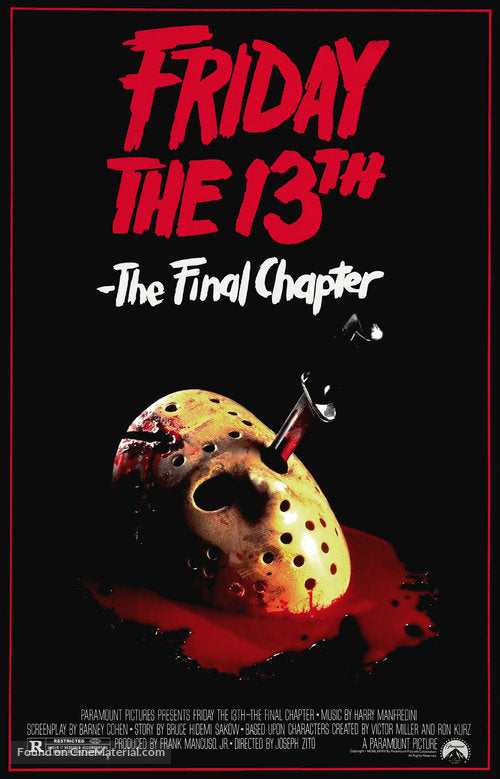 Friday the 13th: The Final Chapter Poster//Friday the 13th: The Final Chapter Movie Poster//Movie Poster//Poster Reprint