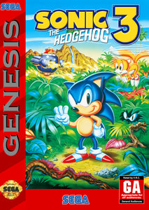Retro Sonic the Hedgehog 3 Game Poster//Sega Game Poster//Video Game Poster//Vintage Game Reprint