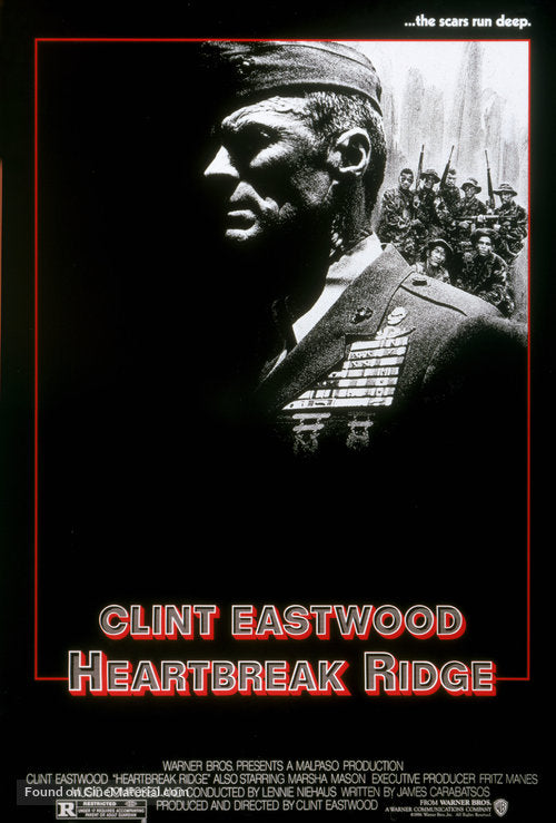 Heartbreak Ridge Poster//Heartbreak Ridge Movie Poster//Movie Poster//Poster Reprint