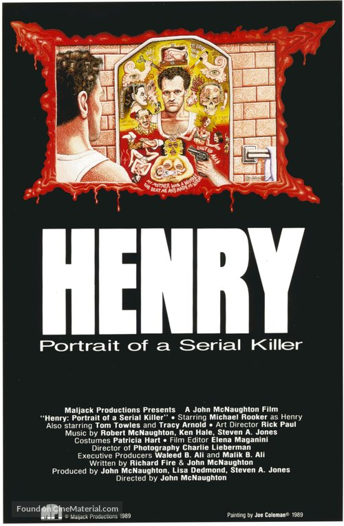 Henry: Portrait of a Serial Killer Poster//Henry: Portrait of a Serial Killer Movie Poster//Movie Poster//Poster Reprint
