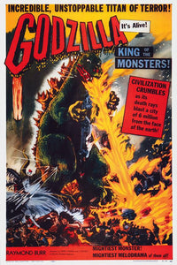 Original Godzilla, King of the Monsters (1956) movie poster reprint