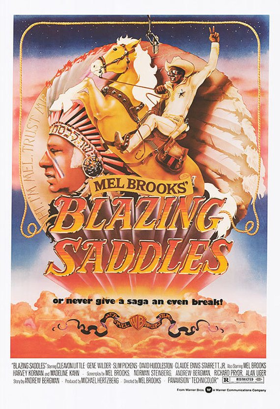 Original Blazing Saddles (1974) movie poster reprint