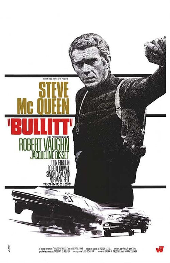 Original Bullitt (1968)movie poster reprint