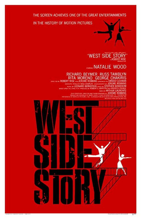 Original West Side Story (1961) movie poster reprint