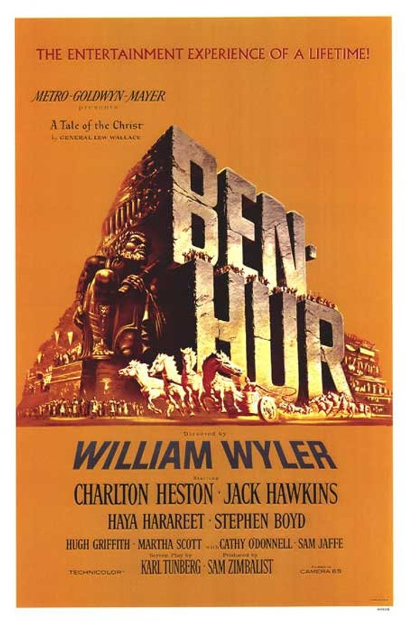 Original Ben-Hur (1959) movie poster reprint