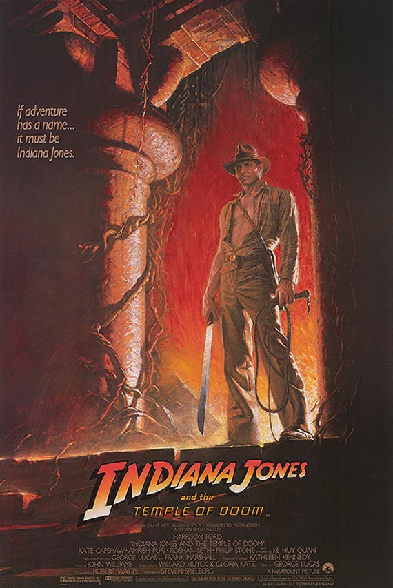 Rare Indiana Jones and the Temple of Doom (1984) movie poster reprint