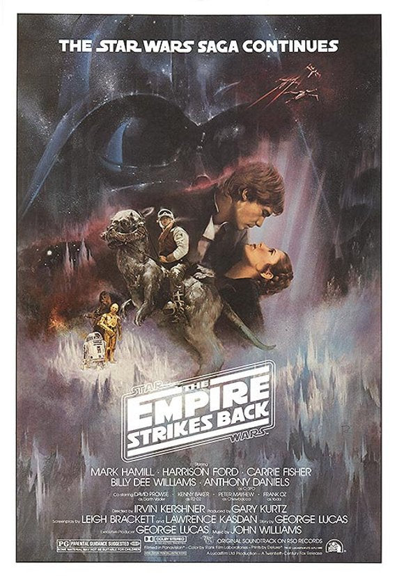 Original Star Wars: Episode V - The Empire Strikes Back (1980) Movie Poster Reprint