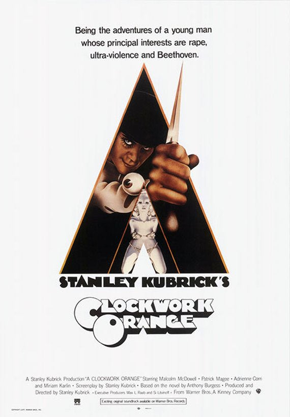 Original Clockwork Orange (1972) movie poster reprint