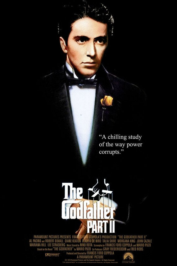 Original Godfather: Part II (1974) movie poster reprint