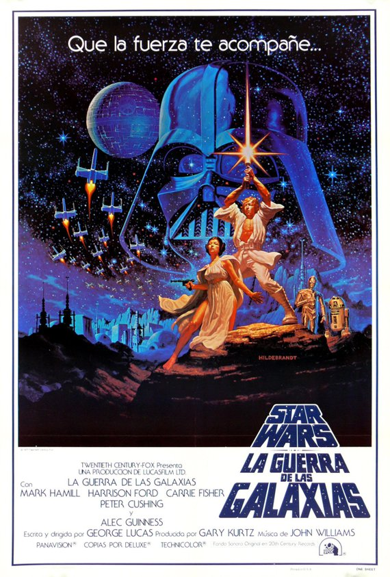 Star Wars Poster//Star Wars Movie Poster//Spanish New Hope Poster//Movie Poster//Poster Reprint