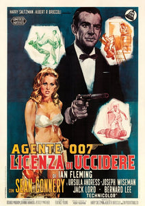 James Bond Poster//Vintage James Bond Movie Poster//Italian Release Movie Poster//Movie Poster//Poster Reprint
