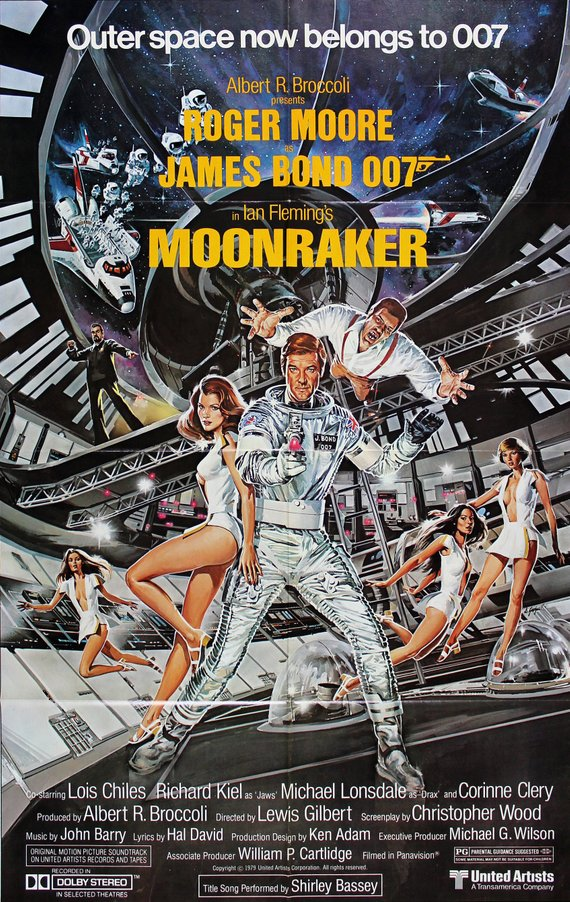 James Bond Poster//Vintage James Bond Movie Poster//Moonraker Movie Poster//Movie Poster//Poster Reprint