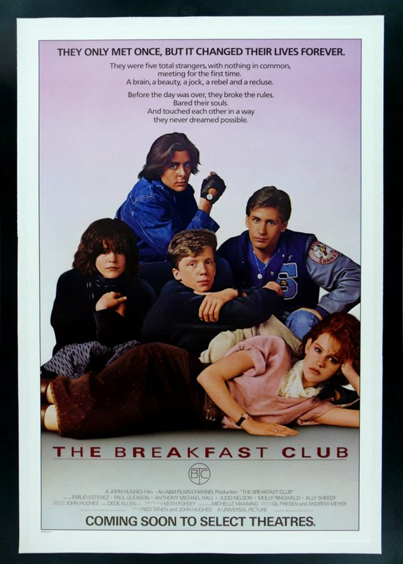 The Breakfast Club Movie Poster Reprint