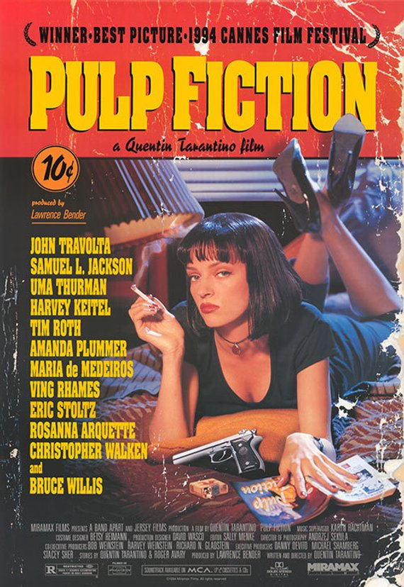 Original Pulp Fiction (1994) Movie Poster