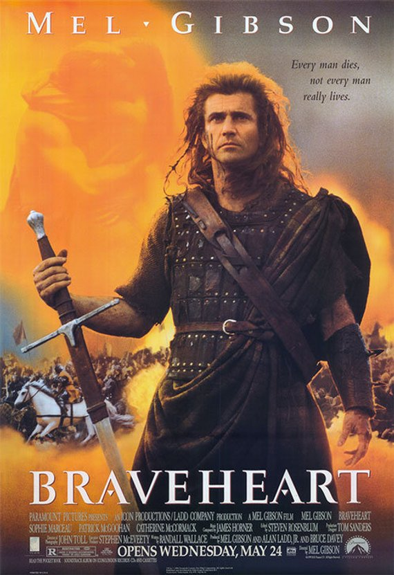 Original Braveheart (1995) Movie Poster Reprint