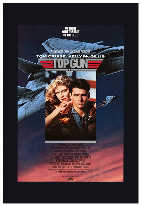 Original Top Gun (1986) Movie Poster Reprint